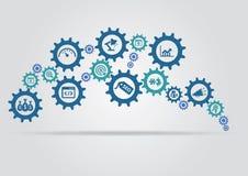Het concept van het Seomechanisme Stock Foto