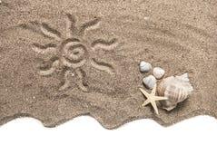 Het concept van het strand Stock Fotografie