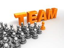 Het concept van het team en van de leider royalty-vrije illustratie