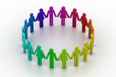 Het concept van het teamwerk Stock Afbeelding