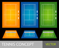 Het concept van het tennis Stock Afbeelding
