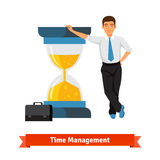 Het Concept van het tijdbeheer Zakenman stock illustratie