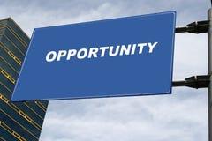 Het Concept van het Uithangbord van de kans Stock Foto