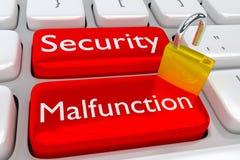 Het concept van het veiligheidsdefect cyber Royalty-vrije Stock Foto's