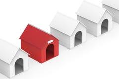 De huizen van de hond Royalty-vrije Stock Foto's