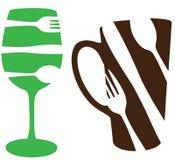 Het concept van het voedsel en van de drank Royalty-vrije Stock Foto's