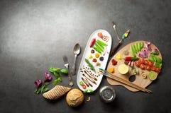 Het concept van het voedselpalet Stock Afbeelding