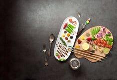 Het concept van het voedselpalet Royalty-vrije Stock Foto
