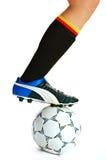 Het concept van het voetbal stock foto's