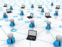 Het concept van het voorzien van een netwerk royalty-vrije stock afbeeldingen