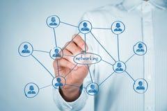Het concept van het voorzien van een netwerk Stock Foto
