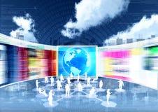 Het concept van het Voorzien van een netwerk van het e-business royalty-vrije illustratie