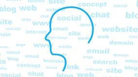 Het concept van het Web stock video