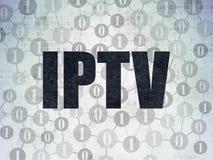 Het concept van het Webontwerp: IPTV op Digitaal Document Stock Foto