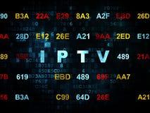 Het concept van het Webontwerp: IPTV op Digitale achtergrond Royalty-vrije Stock Foto