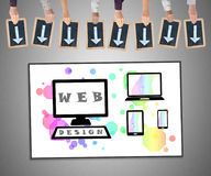 Het concept van het Webontwerp op een whiteboard Stock Afbeeldingen