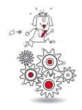 Het concept van het werk vector illustratie