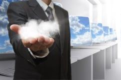 het concept van het wolkennetwerk Stock Foto