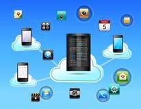 Het concept van het wolkennetwerk Royalty-vrije Stock Afbeeldingen