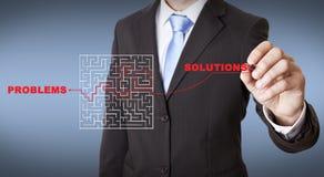 Het concept van het zakenmanlabyrint Stock Fotografie