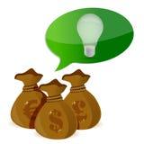 Het concept van ideeinvesteringen Stock Foto