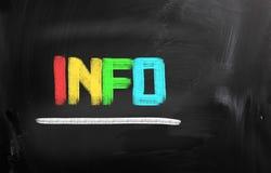 Het concept van info stock afbeeldingen