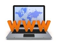 Het concept van Internet. Stock Fotografie