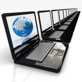 Het Concept van Internet globale zaken Royalty-vrije Stock Afbeeldingen