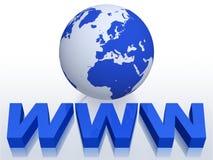 Het Concept van Internet WWW Royalty-vrije Stock Foto's