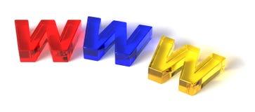 Het concept van Internet/www Stock Foto's