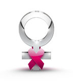 Het concept van Kanker van de borst Stock Foto