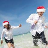 Het Concept van Kerstmissanta hat business travel vacations royalty-vrije stock fotografie