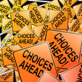 Het concept van keuzen. Stock Afbeeldingen