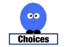 Het concept van keuzen royalty-vrije illustratie