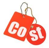 Het concept van kosten - geïsoleerdee prijskaartjes Stock Afbeelding