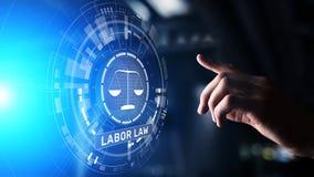 Het concept van Legal Business Consulting van de Arbeidsrechtadvocaat stock foto's