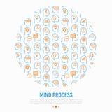 Het concept van het meningsproces in cirkel royalty-vrije illustratie