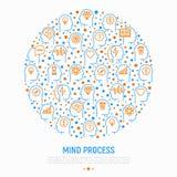 Het concept van het meningsproces in cirkel stock illustratie