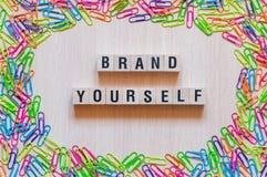Het concept van merk zelf woorden royalty-vrije stock fotografie
