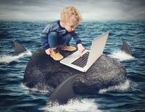 Het concept van moeilijkheidsinternet stock illustratie