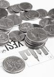 Het concept van muntstukken Royalty-vrije Stock Afbeelding
