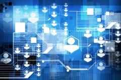 Het concept van netwerkverbindingen Stock Afbeeldingen