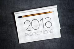 2016, het Concept van Nieuwjaarresoluties Royalty-vrije Stock Foto's