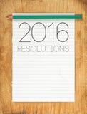 2016, het Concept van Nieuwjaarresoluties Stock Foto's