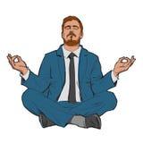 Het concept van ontspant en werkt saldo stock illustratie