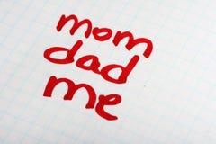 Het concept van ouders en van de familie Stock Afbeelding