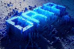 Het Concept van pixelgegevens Stock Foto