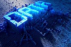 Het Concept van pixelgegevens Royalty-vrije Stock Afbeelding
