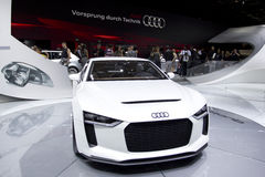 Het Concept van Quattro van Audi in de Show van de Motor van Parijs 2010 stock foto