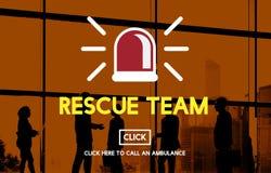 Het Concept van reddingsteam paramedic support help emergency royalty-vrije stock afbeelding